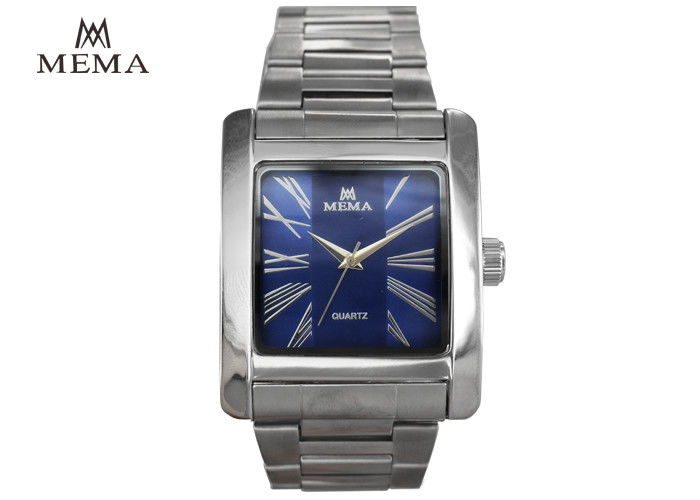 Classic Square Blue Face Watch Mens Designer Square Face Watches